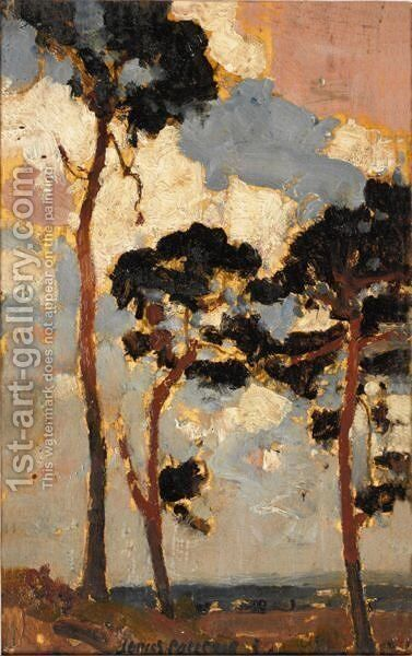 Fir Trees by James Paterson - Reproduction Oil Painting