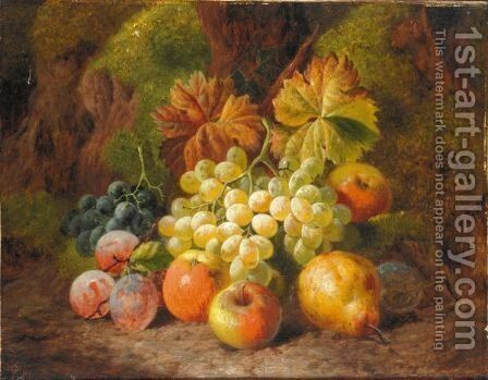 Still Life Of Apples, Pears, Plums And Grapes by Charles Thomas Bale - Reproduction Oil Painting