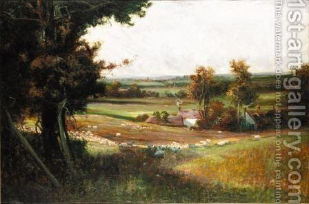 The Golden Valley by (after) Sir Alfred East - Reproduction Oil Painting