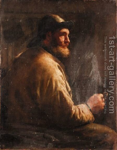 The Fisherman 2 by Edwin Harris - Reproduction Oil Painting
