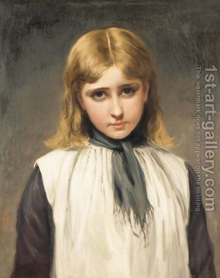 Portrait Of A Girl 2 by Charles Sillem Lidderdale - Reproduction Oil Painting
