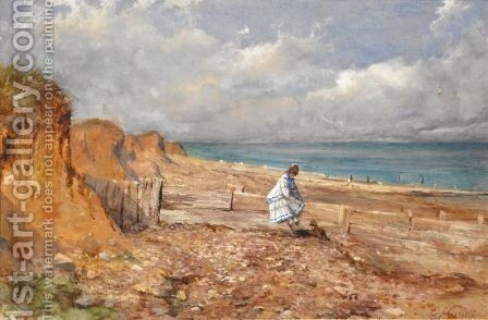 At The Seaside by Edward John Cobbett - Reproduction Oil Painting