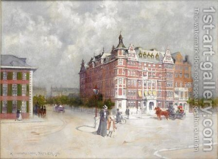 Queen's Gate, Kensington by Albert Chevallier Tayler - Reproduction Oil Painting