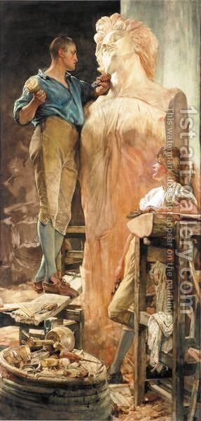 The Saucy Arethusa by Edgar Bundy - Reproduction Oil Painting