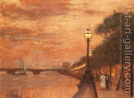 Chelsea Embankment by Algernon Mayon Talmage - Reproduction Oil Painting