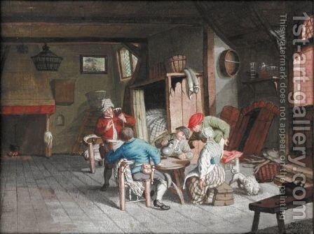 Merry Drinkers by Continental School - Reproduction Oil Painting