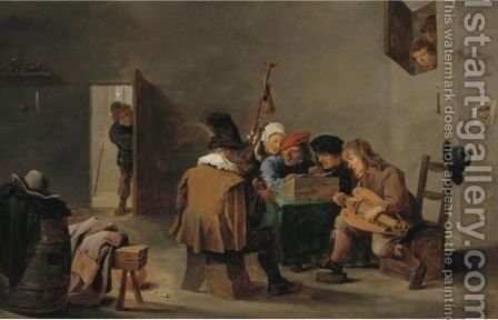 The Boors' Concert by David The Younger Teniers - Reproduction Oil Painting