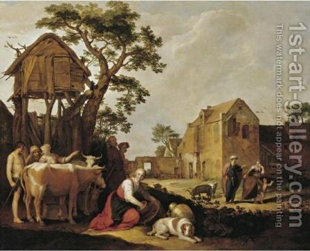 The Expulsion Of Hagar And Ishmael by Abraham Bloemaert - Reproduction Oil Painting