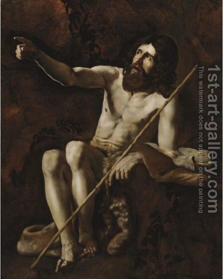 Saint John The Baptist In The Wilderness by Giovanni Battista Caracciolo - Reproduction Oil Painting
