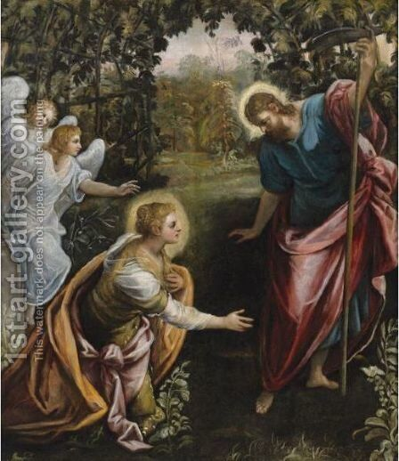 Noli Me Tangere by Domenico Tintoretto (Robusti) - Reproduction Oil Painting