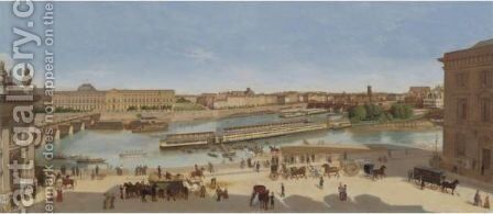 A View Of Paris From 17 Quai Conti, 1846 - 1850 by Antione Henault - Reproduction Oil Painting