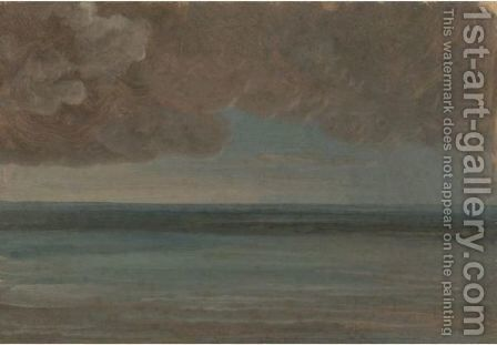 A View Of The Ocean At Ischia Under A Stormy Sky by Simon-Joseph-Alexandre-Clement Denis - Reproduction Oil Painting