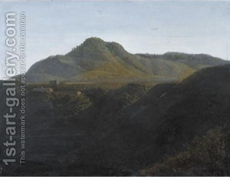 View Of Monte Cavo, Near Albano by Jean-Joseph-Xavier Bidauld - Reproduction Oil Painting