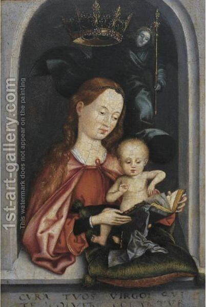 Virgin And Child by (after) Martin Schongauer - Reproduction Oil Painting