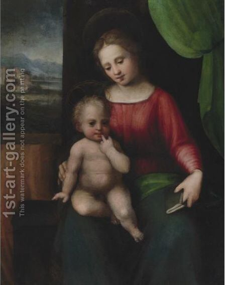 The Madonna And Child by Antonio Del Ceraiuolo - Reproduction Oil Painting