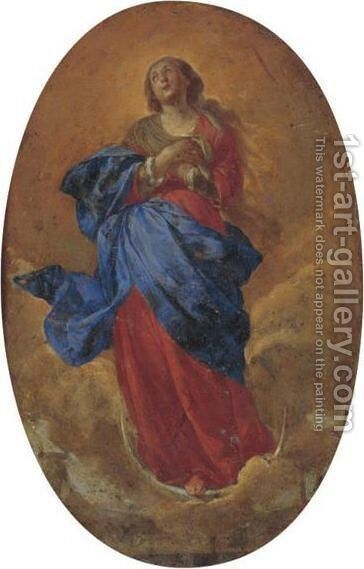 Assumption Of The Virgin by (after) Bernardo Cavallino - Reproduction Oil Painting