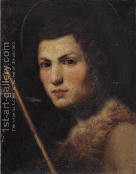 Saint John The Baptist by (after) Lorenzo Lippi - Reproduction Oil Painting