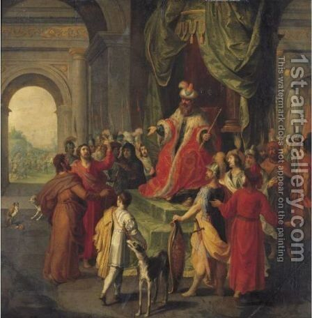 Moses And Aaron Before Pharaoh by Hendrik van Balen, I - Reproduction Oil Painting