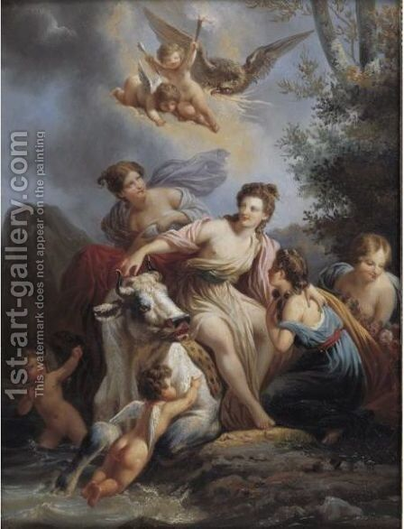 The Rape Of Europa by (after) Baron Jean-Baptiste Regnault - Reproduction Oil Painting