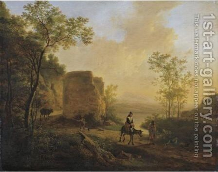 A Southern Landscape With A Ruin by Jan Both - Reproduction Oil Painting