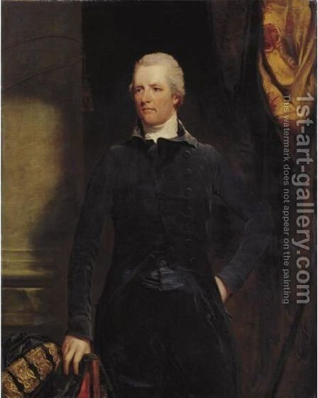 Portrait Of The Rt. Hon. William Pitt by (after) Hoppner, John - Reproduction Oil Painting
