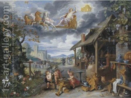 Allegory Of War And Peace by Isaac Cruikshank - Reproduction Oil Painting