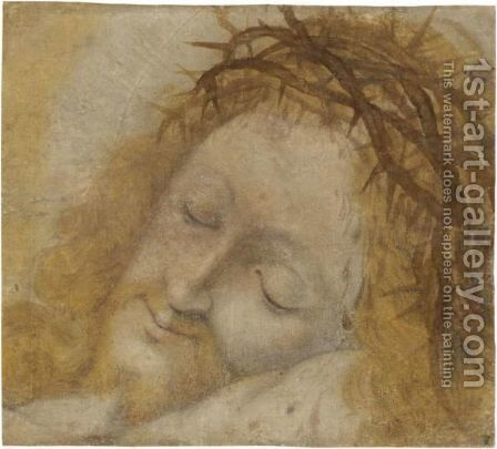 Head Of Christ, Crowned With Thorns by Bernardino Luini - Reproduction Oil Painting