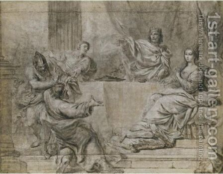 Esther Obtains The Punishment Of Haman From King Ahasuerus by Antonio Gionima - Reproduction Oil Painting