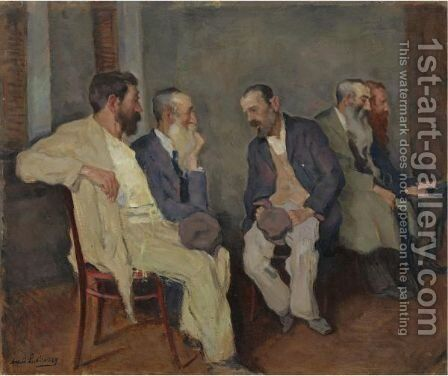 The Conversation by Arnold Borisovich Lakhovsky - Reproduction Oil Painting
