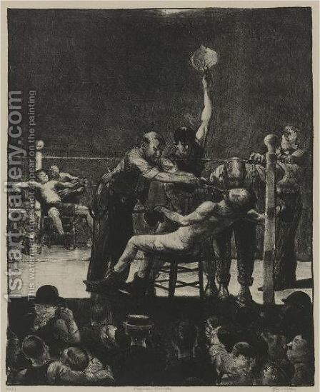 Between Rounds, First Stone by George Wesley Bellows - Reproduction Oil Painting