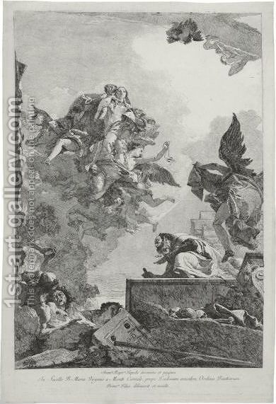 The Virgin Appearing To St. Simon Stock by Giovanni Domenico Tiepolo - Reproduction Oil Painting
