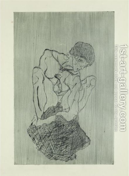 Kuemmernis by Egon Schiele - Reproduction Oil Painting