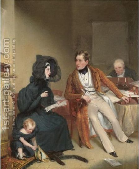 The Widow by Alexander Snr Fraser - Reproduction Oil Painting