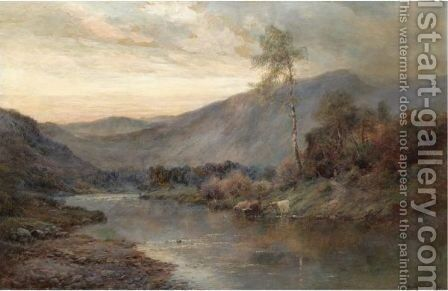 The River Teith Through The Trossachs by Alfred de Breanski - Reproduction Oil Painting