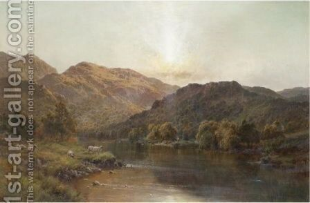 The Valley Of Bettws by Alfred de Breanski - Reproduction Oil Painting