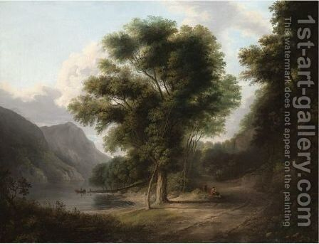 Beside The Loch Shore by Alexander Nasmyth - Reproduction Oil Painting