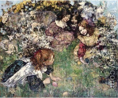 Easter by Edward Atkinson Hornel - Reproduction Oil Painting