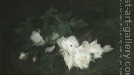 White Roses 2 by James Stuart Park - Reproduction Oil Painting