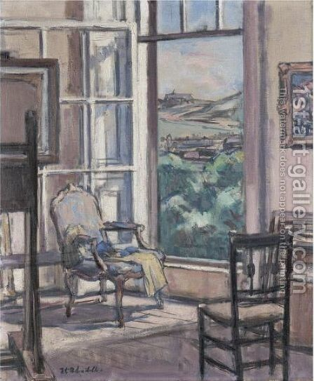 Interior, The Open Window by Francis Campbell Boileau Cadell - Reproduction Oil Painting