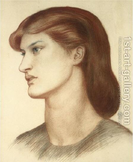 Portrait Of Alexa Wilding by Dante Gabriel Rossetti - Reproduction Oil Painting