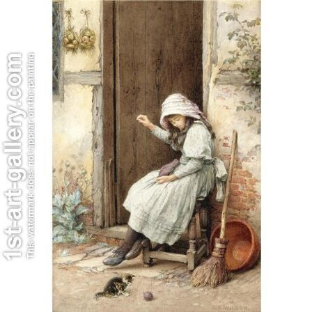Playtime by Charles Edward Wilson - Reproduction Oil Painting