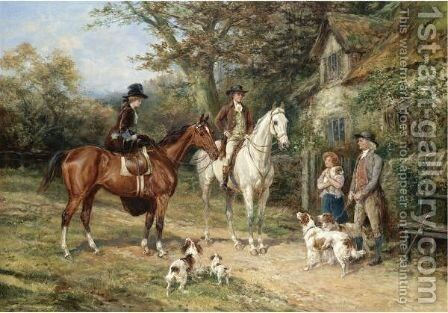 A Convivial Greeting by Heywood Hardy - Reproduction Oil Painting