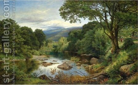 A Welsh Valley by Benjamin Williams Leader - Reproduction Oil Painting