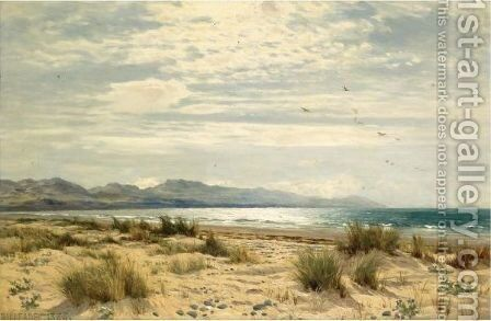 A Beach On The South West Coast by Benjamin Williams Leader - Reproduction Oil Painting