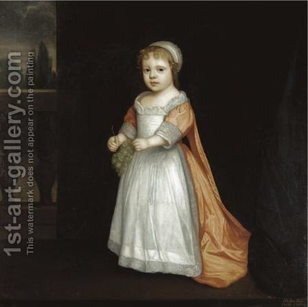 Portrait Of Lady Anne Fitzroy, Countess Of Sussex (1661-1722) by (after) Dyck, Sir Anthony van - Reproduction Oil Painting