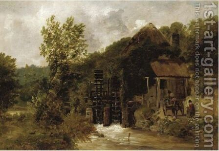 The Old Mill In Devon by Frederick Richard Lee - Reproduction Oil Painting