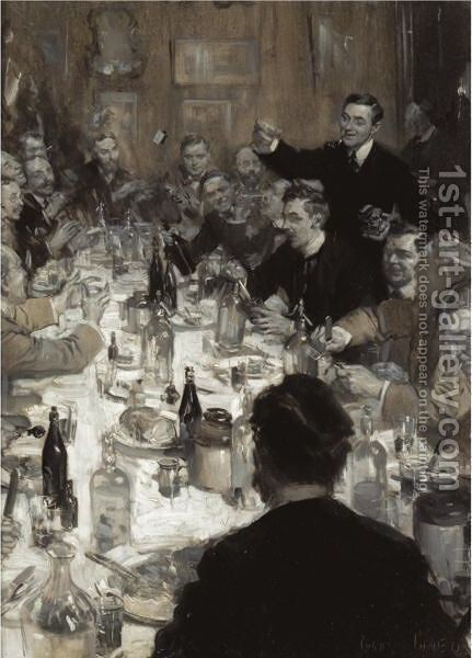 Friday Night Supper by Cyrus Cuneo - Reproduction Oil Painting