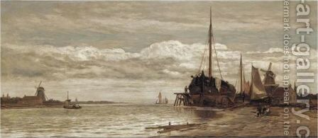 The Shipbuilders by Charles Thornely - Reproduction Oil Painting