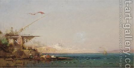 The Port Of Istanbul by Henri Duvieux - Reproduction Oil Painting