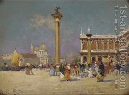 Piazza San Marco by Giulio Bardini - Reproduction Oil Painting